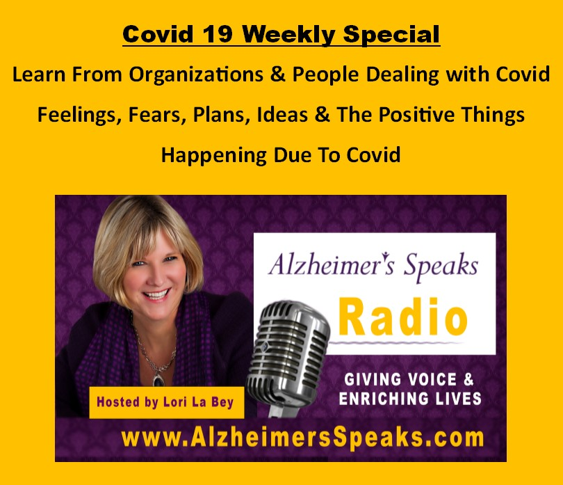 Weekly Covid 19 Speciale - Alzheimer's Speaks Radio 1